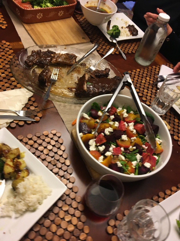 Beet-Salad-Goat-Cheese-Pistachio-Arugula-Spinach